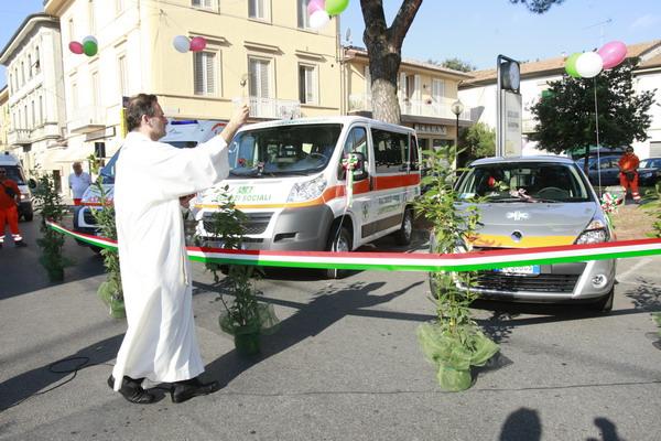 Inaugurazione nuova ambulanza e pulmino.